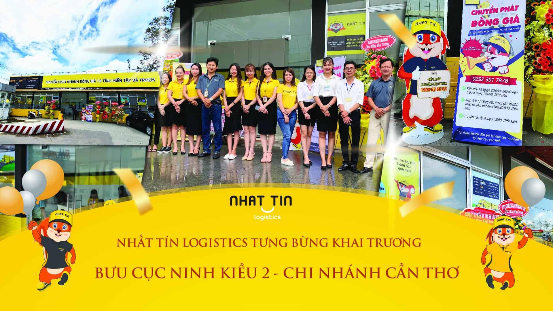 Nhất Tín Logistics Tưng bừng khai trương bưu cục Ninh Kiều 2 – Chi nhánh Cần Thơ