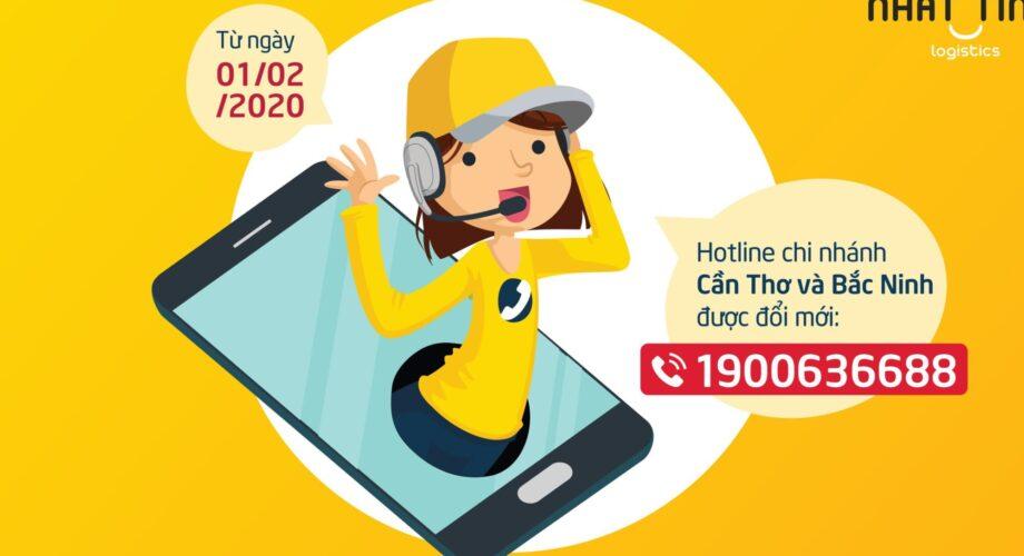 [Thông báo] Thay đổi đầu số hotline Chi Nhánh Cần Thơ và Bắc Ninh từ ngày 1/2/2020