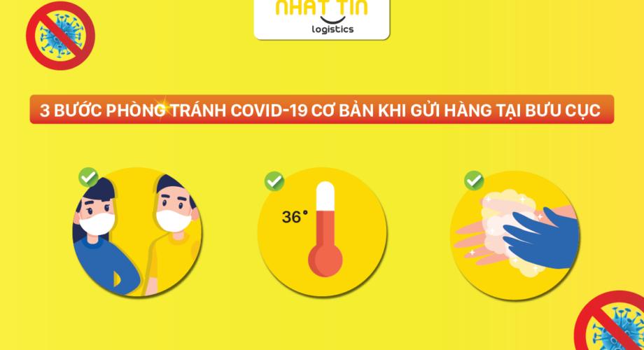 3 bước phòng tránh COVID-19 cơ bản khi gửi hàng tại Nhất Tín