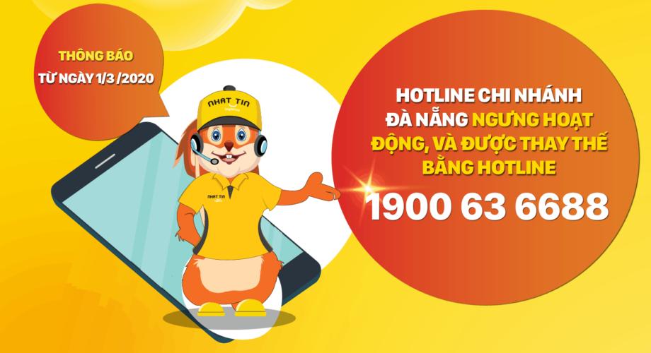 [Thông báo] Thay đổi đầu số hotline Chi Nhánh Đà Nẵng từ ngày 1/3/2020