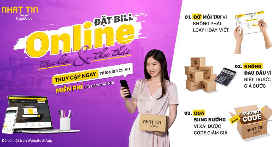 Nhất Tín Logistics ra mắt tính năng mới: Đặt Bill Online siêu tiện lợi