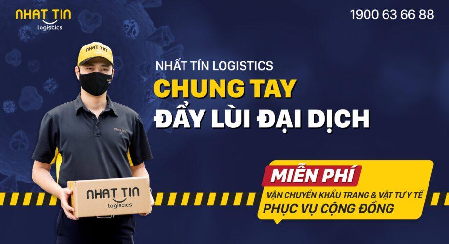 Nhất Tín Logistics: Miễn phí vận chuyển Khẩu trang và Vật tư y tế phục vụ cộng đồng phòng chống COVID-19