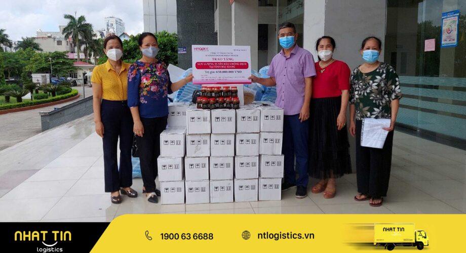 Nhất Tín Logistics: Vận chuyển thành công tấm lòng phương nam đến với tâm dịch